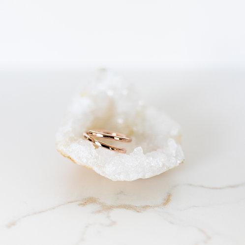 Free Spirit Hammered Rose Gold Ring