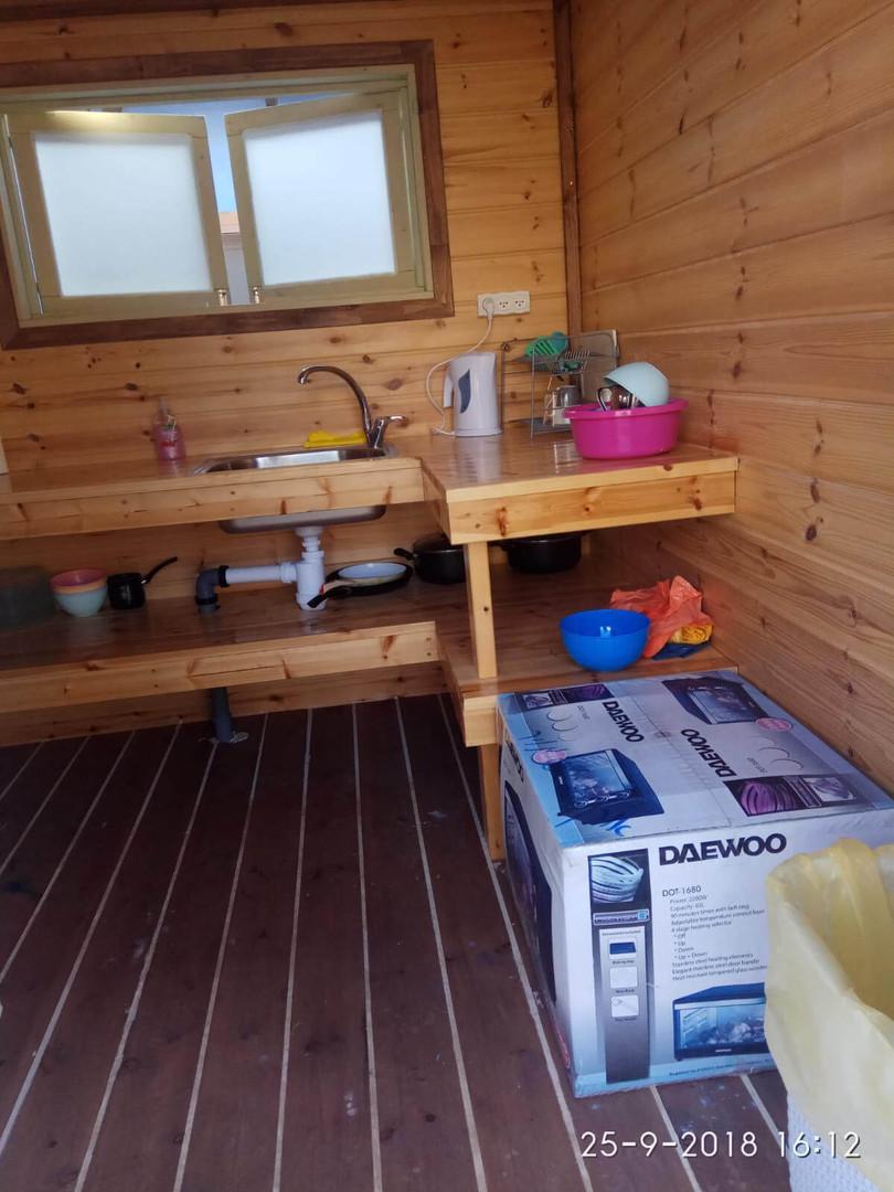 קמפינג בצפון - בתוך המטבחון