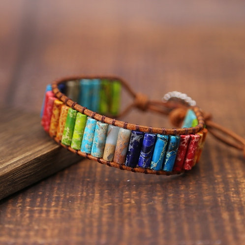 Natural Handmade Stone Chakra Bracelet