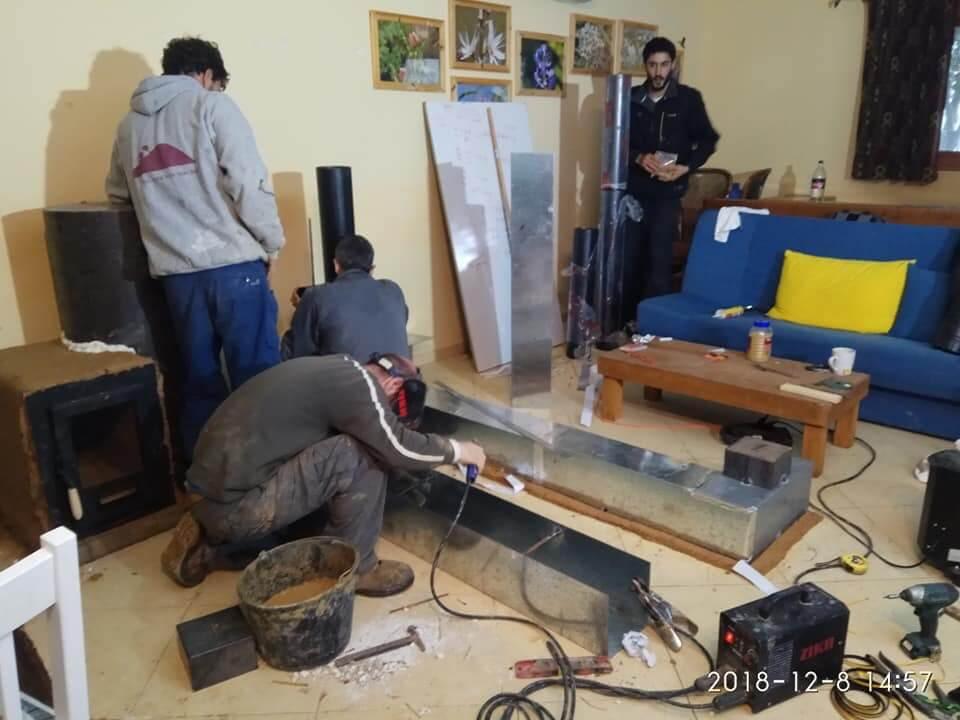 צימרים למשפחות - שלב הבנייה