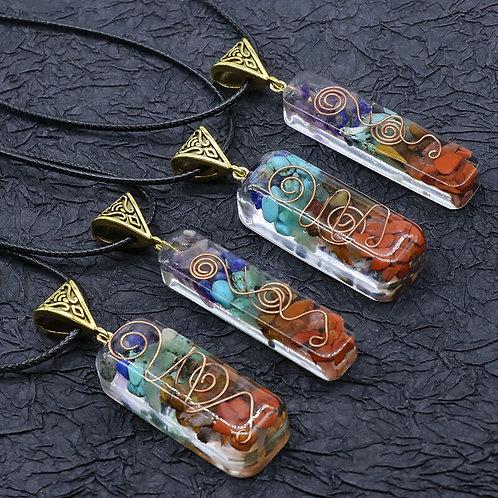Reiki Healing Natural Stone Necklace