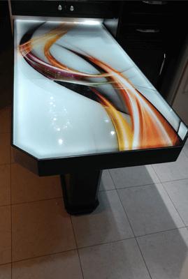 מקלחון הצפון - הדפסה על זכוכית