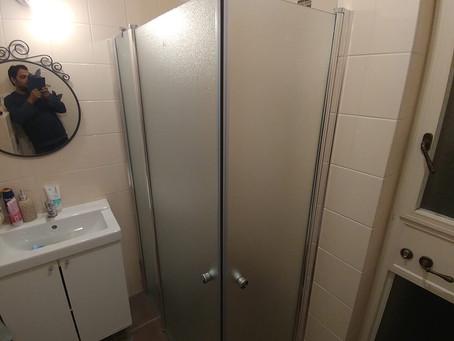 התקנה של מקלחון פינתי משולב פרופיל 2