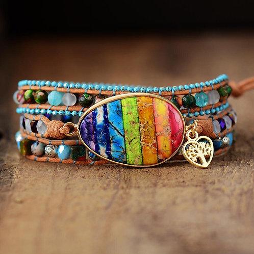 Handmade  Multilayers Chakra Bracelet