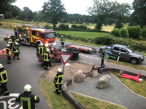 Ausbildung der Kameraden der Selker und Geltorfer Feuerwehr in TH