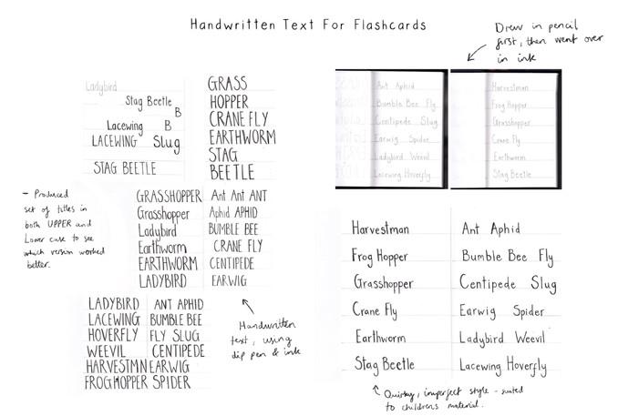 Handwritten Title Text Development