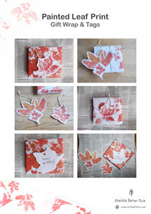 DIY Leaf Print Gift Wrap Cover Page