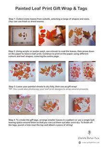 DIY Leaf Print Gift Wrap Step-by-step