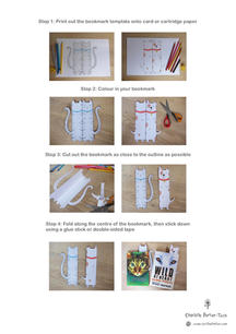 Colour-in Cat & Dog Bookmarks Step-by-step