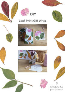 DIY Leaf Gift Wrap - Cover Page