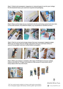Collage Bookmarks Step-by-step