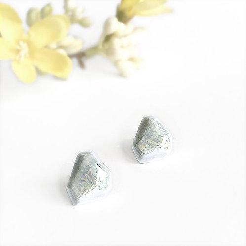 Krystalix náušnice - šedomodré