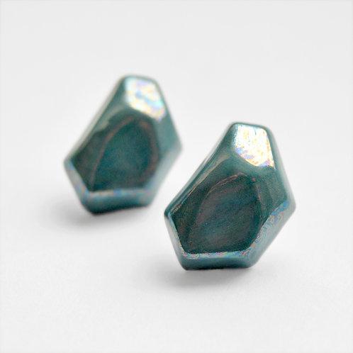 Krystalix náušnice - zelené