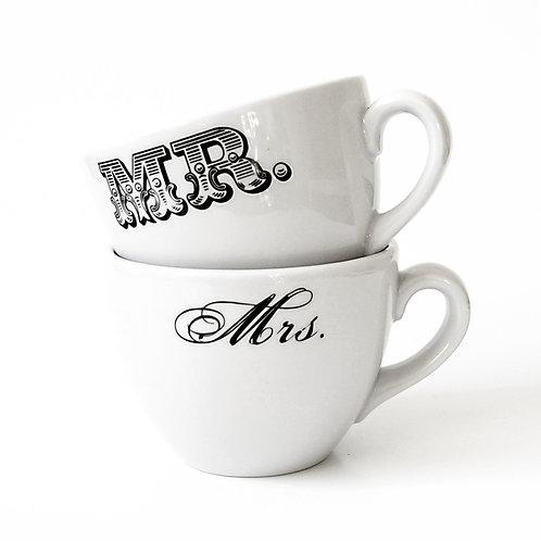 """Hrnek porcelánový, svatební """" Mrs.and Mr. """" 250ml"""