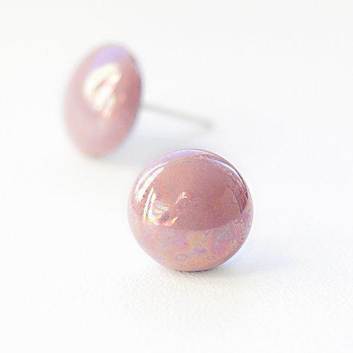 Porcelánové náušnice - Pecky růžové