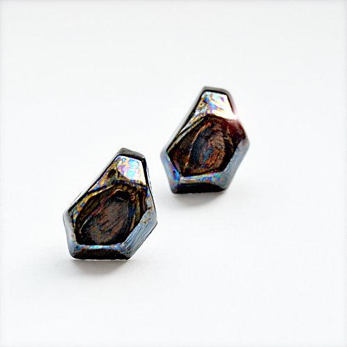 Krystalix náušnice - černé
