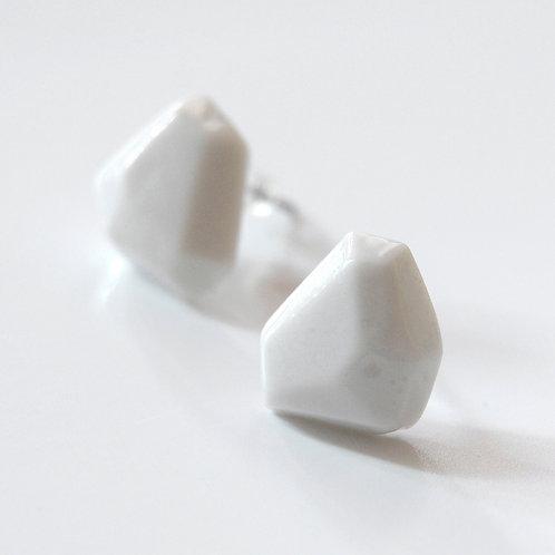Krystalix náušnice - bílé