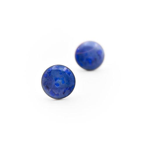 Porcelánové náušnice - Pecky modré / dračí oči