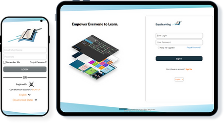 Equalearning App phone and tablet