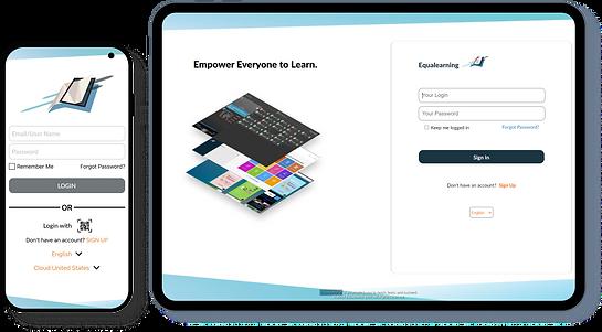 Equalearning App phone & tablet