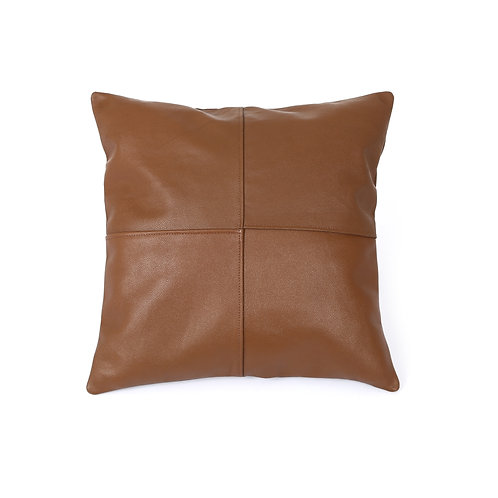 LEATHER PILLOW COVER TAN