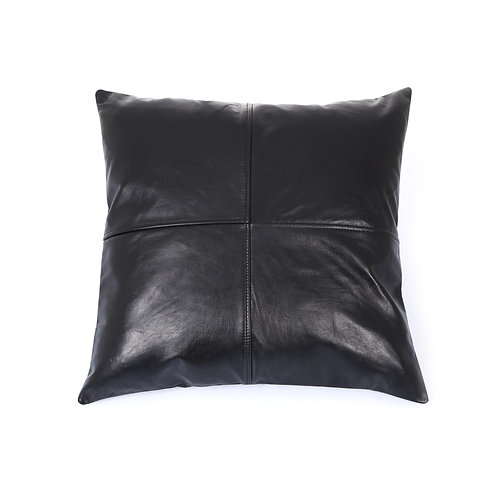 LEATHER PILLOW COVER BLACK