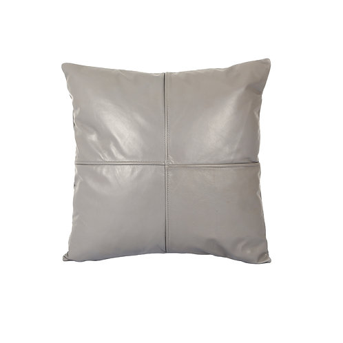 LEATHER PILLOW COVER GREY