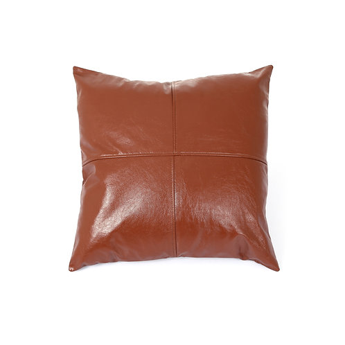LEATHER PILLOW COVER CARAMEL