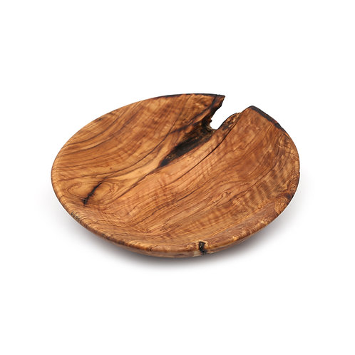 OLIVE WOOD PLATE 23cm