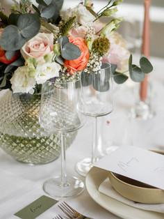Bordsdekor i Glasverandan