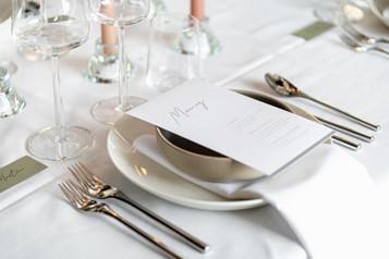 Middagsdukning för Bröllop på Glasverandan Skeppsholmen
