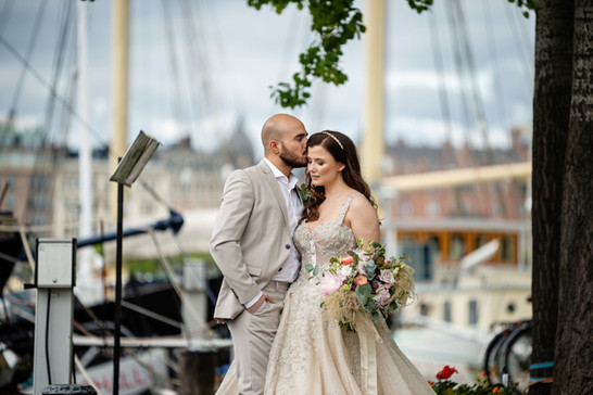 Bröllopspar på Skkeppsholmen
