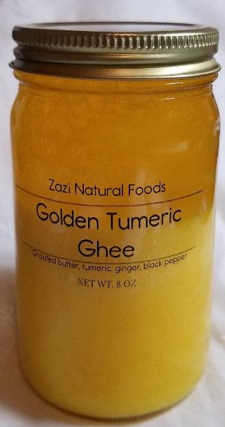Golden Tumeric Grassfed Ghee, 8 oz jar