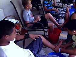 Arvigo camp boys spiritual bathing