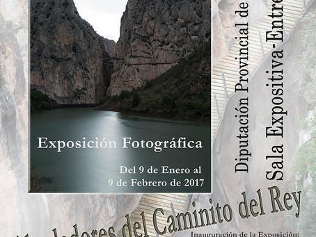 """Exposición """"Los alrededores del Caminito del Rey""""."""