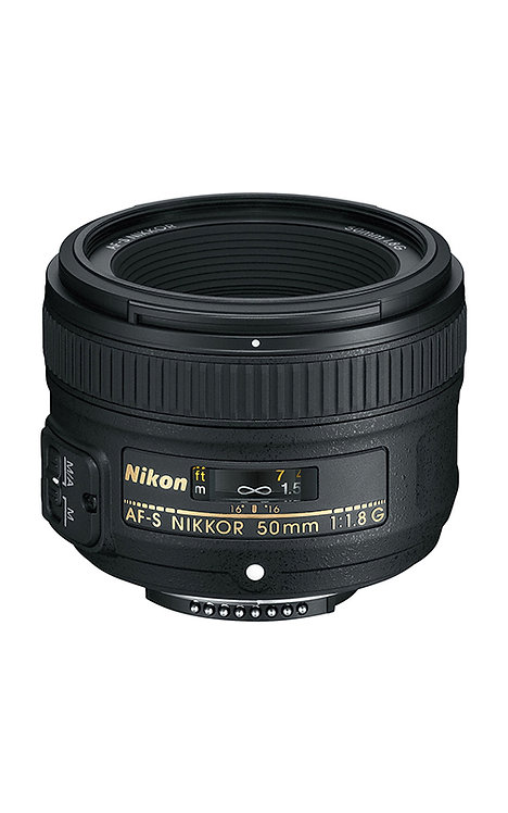 Objetivo 50 mm, f1.8. Nikon AF-S