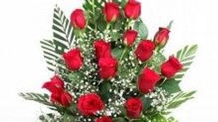 18 Red Roses Basket