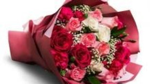 Red Pink And White Roses