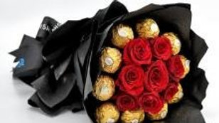Red Roses And Ferrero Chocolates