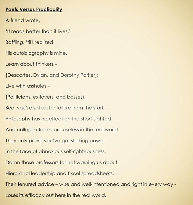 Poets Versus Practicality
