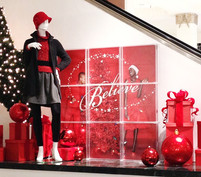 """Believe"" Holiday Campaign Display"