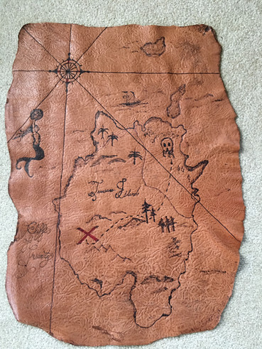 Leather Treasure Map