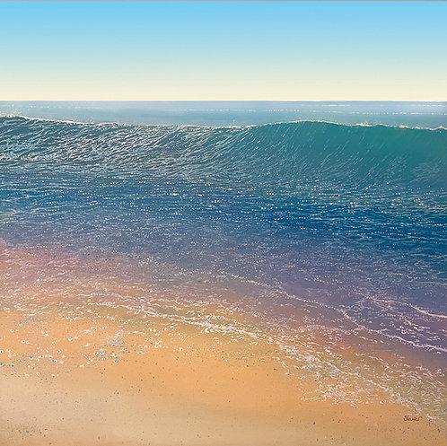 big wave with sky