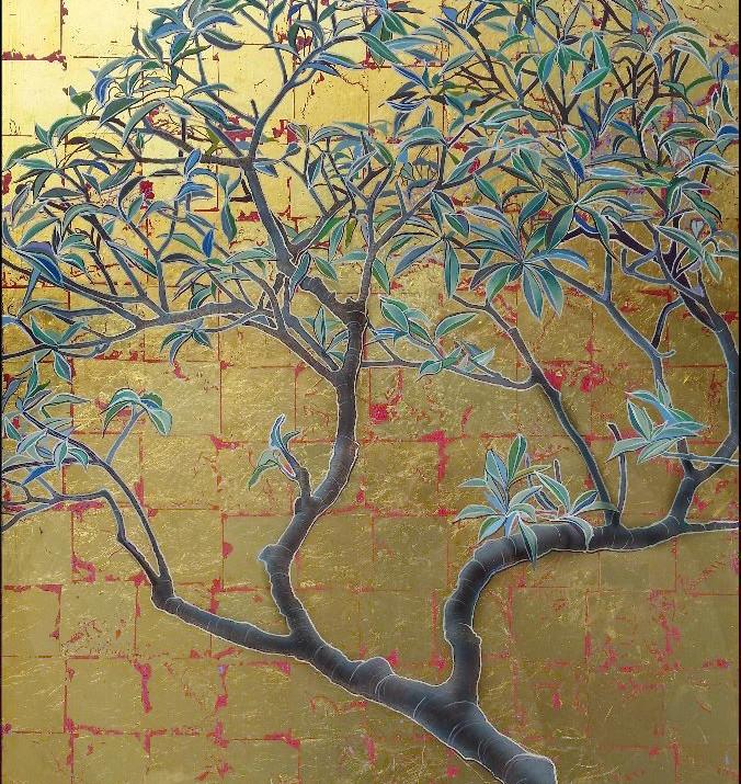 gold leaf franjipani