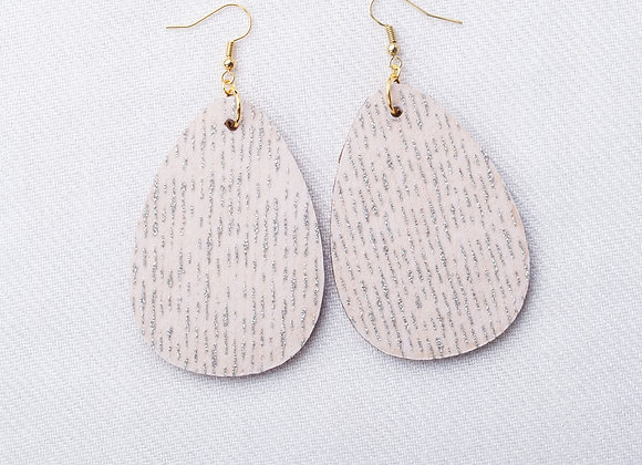 White & Silver Tissue Teardrop