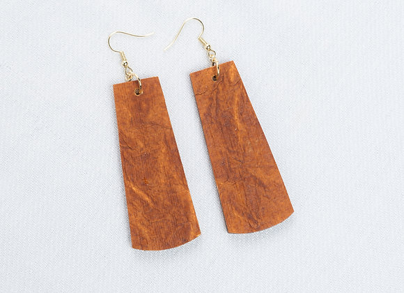 Rust Leather-Look Rectangle