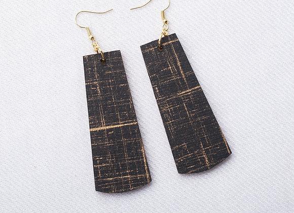 Black & Gold Crosshatch Rectangle
