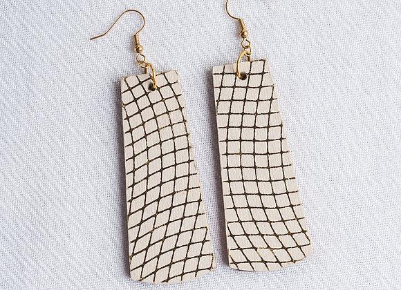 Ivory Grid Rectangle