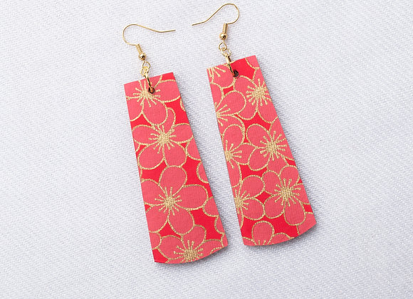 Red & Pink Floral Rectangle