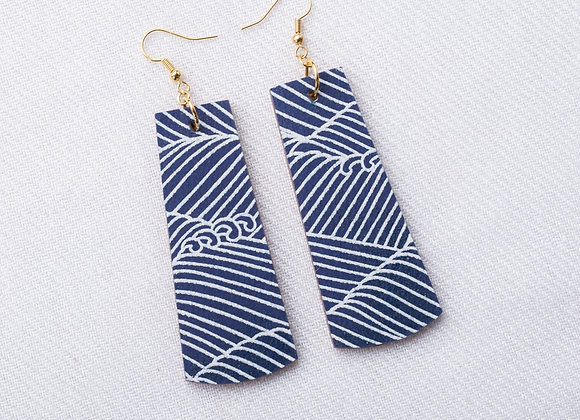 Navy Waves Rectangle